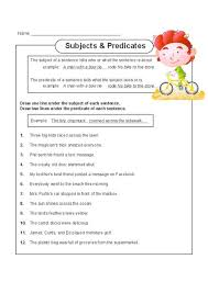 identifying subjects and verbs worksheet worksheets