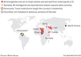 included the eight countries in trump u0027s new travel ban washington post