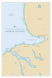 Lake Michigan Beaches Map by Barton U0026 Gray Mariners Club