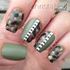 christabellnails camo nails tutorial with studs youtube