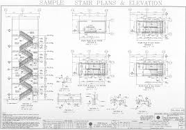 stairs plan elevation free cad blocks staircase image stair