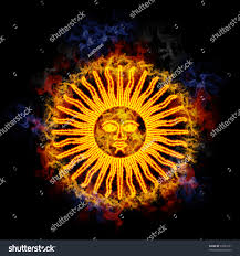 Flag Yellow Sun Sun May Argentinian Flag Ancient Inca Stock Illustration 52627291