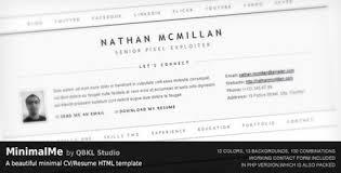 Html Resume Templates 35 Premium Resume Templates