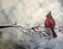 how to paint a snowy cardinal snapguide