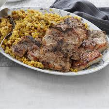bread stuffing thanksgiving pork chops with corn bread stuffing recipe taste of home
