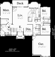 one story house plans daylight basement house plans side garage