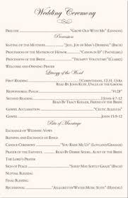 programs for a wedding wedding programs with non tradition ceremony