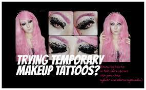 gothy makeup look temporary makeup tattoos