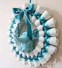 Rolled Diaper Wreath Instructions Finished Wreath Baby Shower
