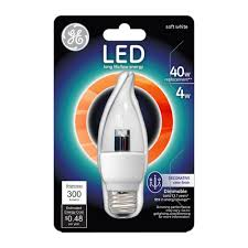 Led Light Bulb Cost Savings by Ge 40w Equivalent Soft White 2700k Cam Clear Dimmable Led Light