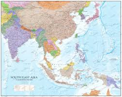 Southeastern Asia Map by Southeast Asia Wall Map Gm Asia Asia Wall Maps