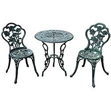 Wrought Iron Bistro Table Outsunny 3 Outdoor Cast Iron Patio Furniture