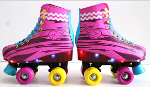 roller skates with flashing lights 2017 selling usb charging 18 flashing lights quad roller skates