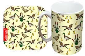 selina jayne ducks limited edition designer mug and coaster gift set