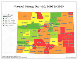 Map Of Denver Colorado by State Demography Office