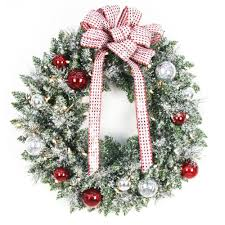 pre lit wreaths battery operated