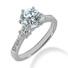 3 engagement ring aquamarine diamond three engagement ring
