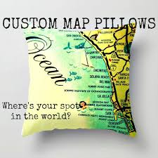 sonoma california map beach4good mid century modern map pillows sonoma pillow