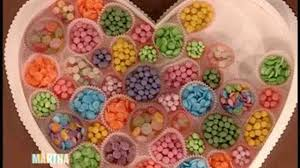 valentines day heart candy how to make s day heart candy boxes martha stewart
