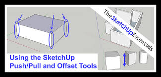 How To Create Floor Plan In Sketchup Using The Push Pull And Offset Tools In Sketchup To Create Shapes