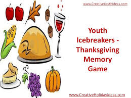 youth icebreakers thanksgiving memory