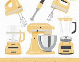 Yellow Kitchen Aid - kitchenaid clipart etsy