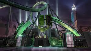 video incredible hulk coaster queue ride vehicle