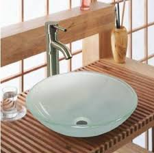 tempered glass vessel sink for a fresh and modern look