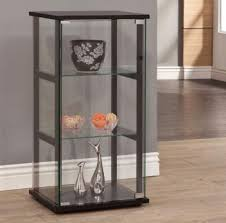Curio Cabinets Shelves Curio Cabinet Glass Display Case Furniture Showcase Storage
