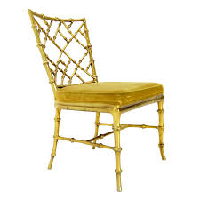 faux bamboo gold metal frame chair faux bamboo side chair and