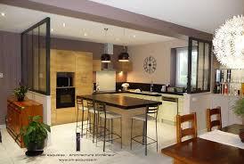 cuisine ouverte moderne cuisine ouverte avec verrière am esquisse photo n 51