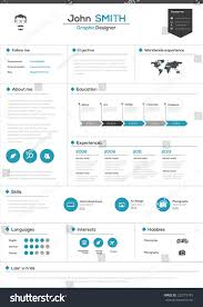 Flat Resume Design Stunning Flat Resume Design Gallery Simple Resume Office
