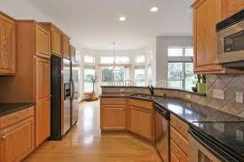 how to modernize golden oak cabinets bye bye golden oak hello paint stebnitz builders