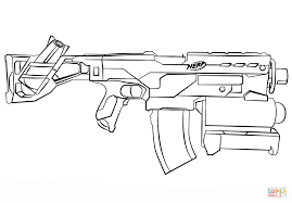 nerf gun coloring pages 7354