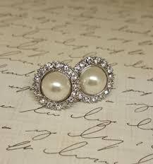 hepburn earrings hepburn inspired pearl stud earrings carolina bridal