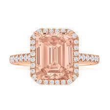 engagement rings australia cerise morganite diamond ring 9ct gold g20251237 grahams