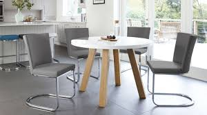 Dining Room Sets Uk Luxurious White Gloss And Oak Arc Form 4 Seater Dining Set Uk Gray