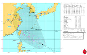 China On A Map Super Typhoon Nepartak A Significant Threat To Taiwan And China