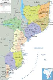 France Cities Map by Detailed Administrative Map Of Mozambique With All Cities Roads
