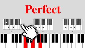 ed sheeran perfect chord original perfect ed sheeran on piano easy chords youtube