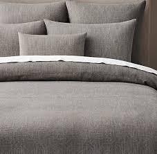 Grey Linen Bedding Duvet Covers U0026 Shams Rh Modern