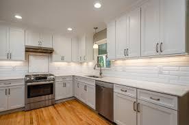 kitchen cabinets white top gray bottom kitchen renovation premier builder pb