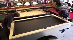 Pool Table Rails Replacement by Pool Table Installation Step 6 The Felt Youtube