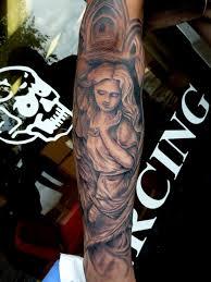 black n grey angel by mully tattoos
