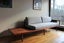 Mid Century Daybed Blue Lamb Furnishings Mid Century Modern Daybed Sofa Sold