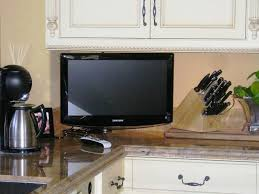 tv in kitchen ideas small tv for kitchen counter home design