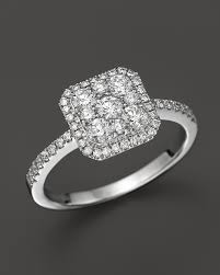 cluster rings diamond cluster ring in 14k white gold 75 ct t w 100