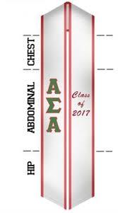 graduation stoles custom sash alpha sigma alpha graduation sash stole