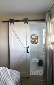 Barn Door To Bathroom by Farmhouse For Five Farmhouse Bathroom Makeover And Barn Door With