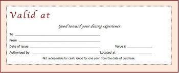 gift voucher examples 14 restaurant gift certificate templates
